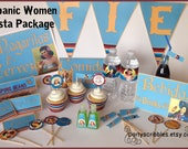 Hispanic Women Fiesta Printable Party Package with Banner & Favors