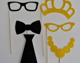 Wedding  Photo Booth  Party Props weddings birthdays 6 Mustache on a stick