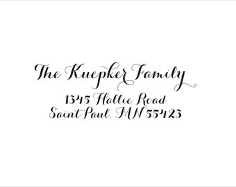 Personalized Address Stamp - The Kuepker Family