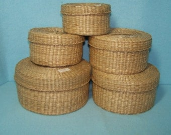 Vintage Seagrass Baskets