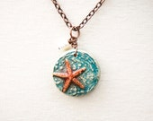 Starfish Polymer Clay Pendant Necklace