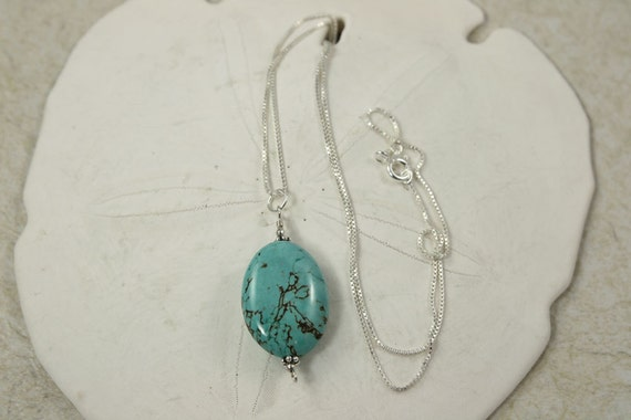 Turquoise Necklace, SALE, Sterling Silver Necklace