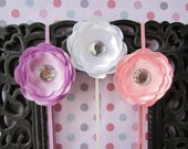 SALE! Small satin flower headband set for preemie, infant, baby/toddler