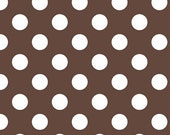 Last 27 inches end of bolt Fabric Riley Blake Medium Brown Dots