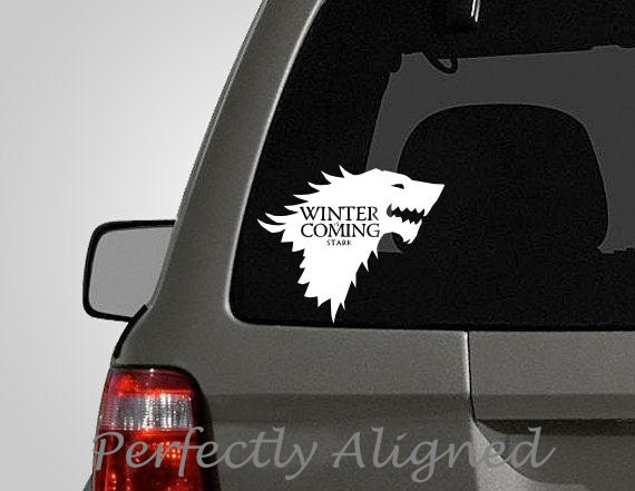 Car Decal 7 Game Of Thrones Inspired Direwolf House