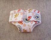Waldorf Doll Diaper - Cowboy Print -Size Small