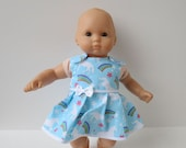 Handmade Doll Clothes - Unicorn Dress Fits Bitty Baby, 14 - 16 Inch Waldorf, Baby Alive