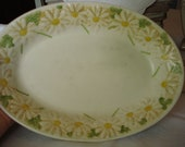 ON SALE. Spring Sale 30% OFF Poppy Trail China Serving Platter by Metlox of California, Hippie Chic, Kitschy