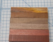 Cocobolo, Walnut, Bloodwood, Wood Pen Blanks -- Set of 6