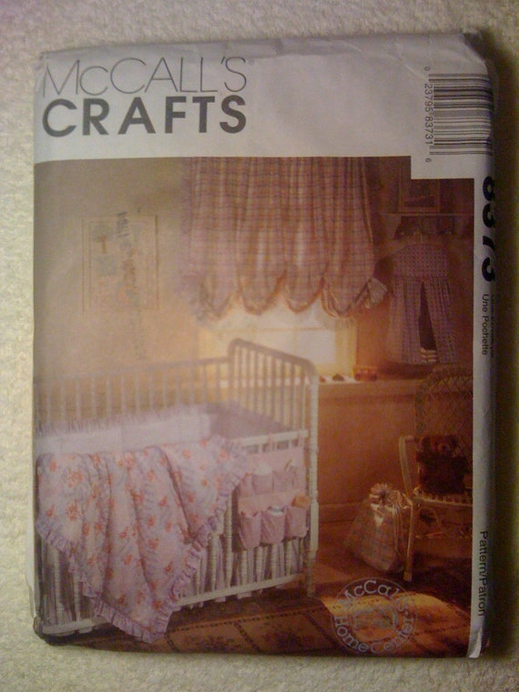 McCalls 90s Crafts Sewing Pattern 8373 Babies Nursery Crib Comforter, Dust Ruffle, Bumper and More Sale
