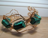 Wire wrapped bracelet.
