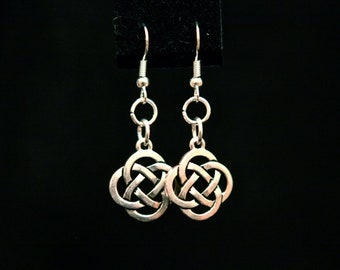 Simple Double Infinity  Drop Earrings