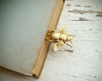 bee keeper - golden bee bookmark
