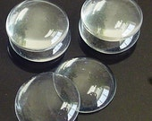 SALE - 100pcs- 20mm round ultra clear glass cabachon, tiles for pendant and more