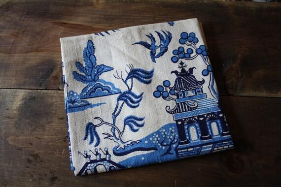 Vintage NOS 1960s Linen Tea Towel, Kee Dee Handprints, Hope Valley Rhode Island