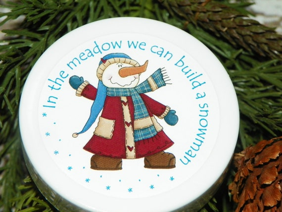 Stocking Stuffers, Christmas, Whipped Body Butter, Paraben Free, Snowman, Set of Three , Holiday Gift, Affordable, Unique Gift, Secret Santa