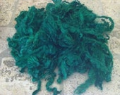 "Locks - ""Money Green"" - green forest tint mohair - doll hair - spinning 1 ounce (70)"