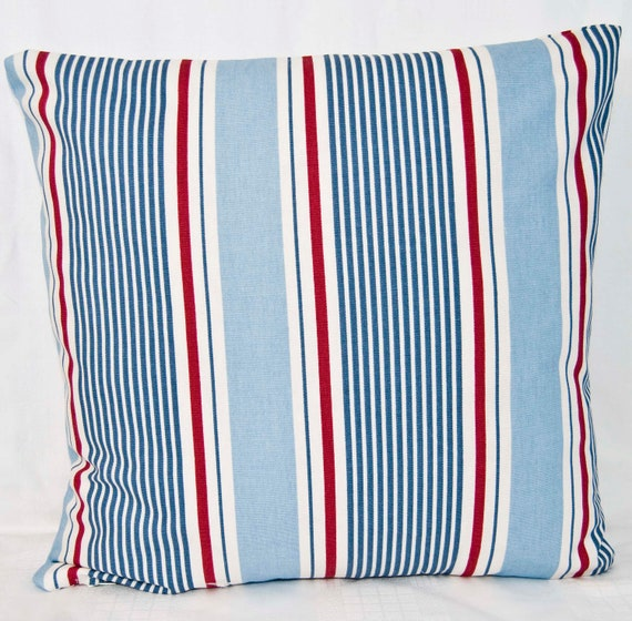 Throw Pillow Covers Nautical : Nautical Cushion Cover Coastal throw pillow cover by GreenCallow
