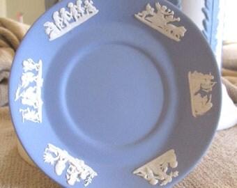 Rare Vintage Wedgwood Jasperware Mini Decorative Plate