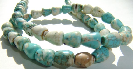 Full Strand Turquoise Magnesite Beads