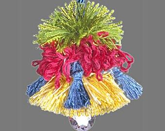 Home Decor Tassel - Accent Tassel - Lilly Pulitzer Colors Decorator Tassel - Pillow Tassel - Drapery Tassel - Doorknob Tassel - Key Tassel