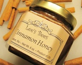 Honey - Cinnamon Infused Honey 6 oz. Glass Jar from Lee the Beekeeper - Use as Tea, Spread, Topping