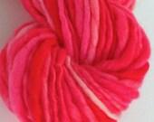 Red ranges -  Hand  spun yarn. hand painted, Pure Australian merino wool. Shades of reds
