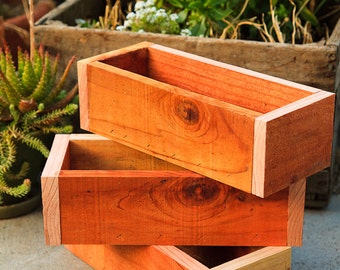 "Set of 3 -- 5x12"" Planter Box - Redwood"