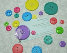 Set of 20 Round Bold Colored buttons or findings, Easter buttons, Valentines buttons by MarlenesAttic