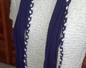 Purple Recycled T Shirt Scarf