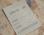 The Pine: Rustic Kraft Wedding Invitation Suite with Custom Icon