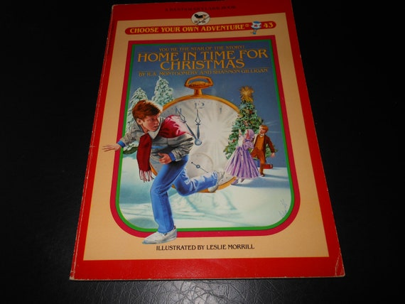 Home In Time For Christmas 1980's Choose Your Own Adventure vintage book - children's fiction story