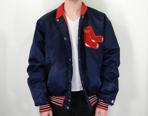Red Sox Authentic Vintage Baseball Jacket L/XL by EyebrowMustache