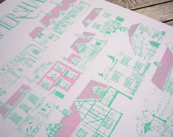Old Amersham Silkscreen Print