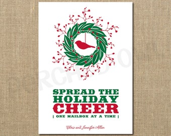 Spread the Holiday Cheer Christmas Card - Digital File