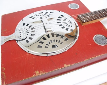 1960's Dobro Didley Box Slide Guitar Handmade Acoustic/ Electric