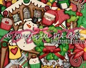 Gingerbread Dreams Digital Scrapbook Kit - Christmas