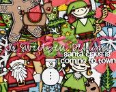 Santa Claus is Coming to Town Digital Scrapbooking Kit