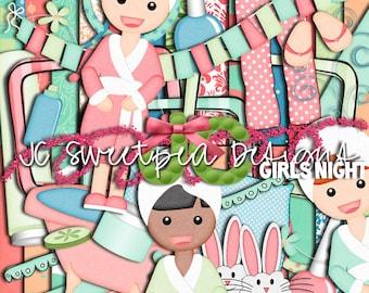 Girl's Night Digital Scrapbooking Kit