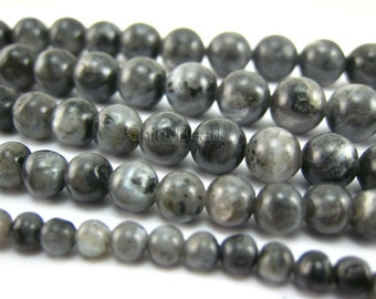 black labradorite round bead 12mm 15 inch strand