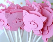 Little Piggy Cupcake Toppers