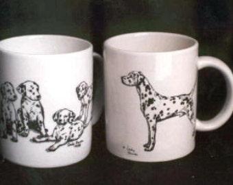 Dalmatian Puppies or Adult Dalmatian Full-Figure - Collectible Mug