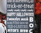 Halloween Typography Sign-- 10x12 VINYL ONLY