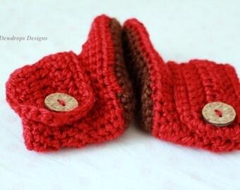 Pattern: Crochet Baby Booties high booties toddler newborn girls boys crochet easy pattern beginner shoes dewdrops