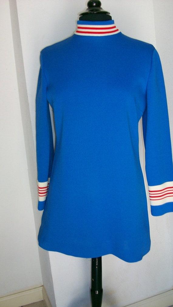 MOD Short Verona Blue Knit Dress