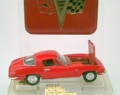 Vintage Corvette 1963 Chevrolet Stingray Toy Metal Car by Racing Champions Vintage Collectible Hot Wheels Red  Gold and Black