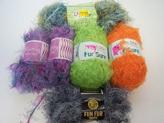 Lion Fur Yarn Moda Dea Haute Knitting Fashion Crochet trim eyelash Lot 6 skeins