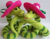 Snake Beauty Knitting Pattern PDF Amigurumi. New Year 2013 present, decoration, Christmas (Instant Download)