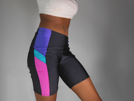 90's Biker Shorts Color Block