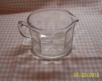 Clear Glass Cream Pitcher